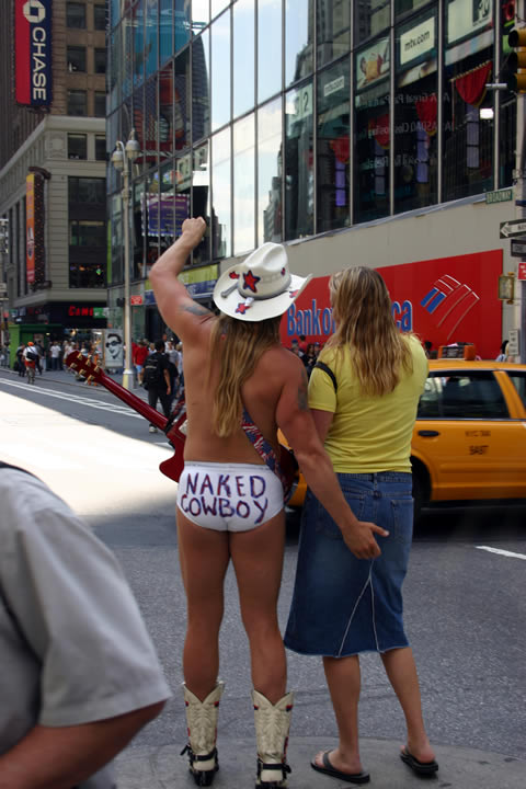 Its the Naked Cowboy