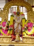 Parthasarathi with ubhaya nachchimars during Peyazhwar Sattumurai-Morning