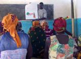 Training session for volunteer village health workers