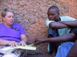Discussing survey data with a local participant