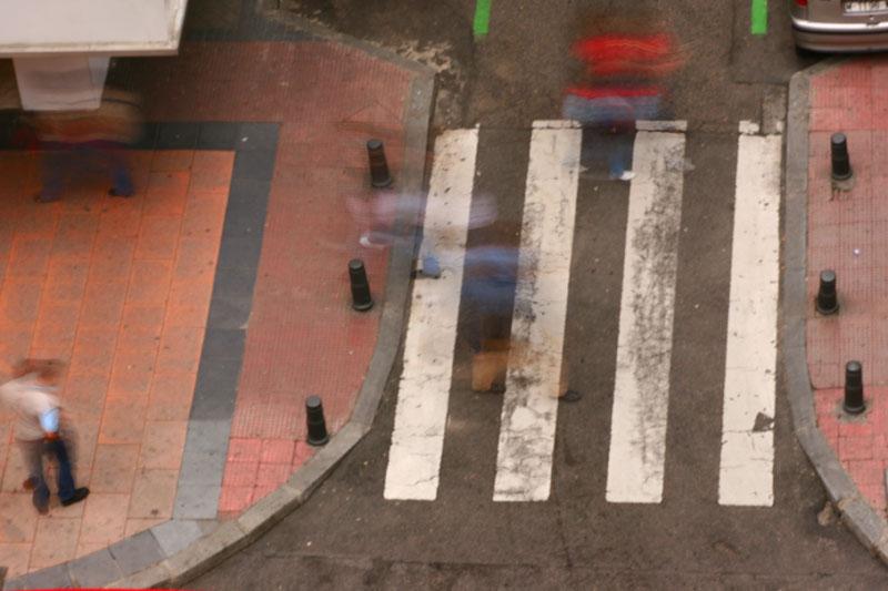 Crossing the side street