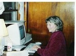Louise Ladd at her PC