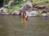 Boy Bathing in the River