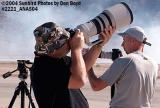 Photog with Canon 400mm f2.8 at the 2004 Aviation Nation Air Show stock photo #2221