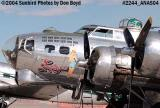 Confederate Air Force's B-17G Sentimental Journey N9323Z at the 2004 Aviation Nation Air Show stock photo #2244