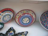 This maker's hand-painted pottery is exhibited in The British Museum.  The large bowl was $50, but I had to watch my budget.