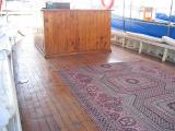 How often do you see a Persian carpet on a boat?
