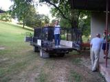 Sunday after church, load up the trucks to leave for Saint Marc