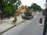 pictures on the drive to saint marc, road work