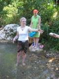 bathing in the creek