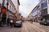 Obchodna, a main commercial street in Bratislava