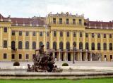 Fountain on the Ehrenhof, the forecourt of Schönbrunn Palace