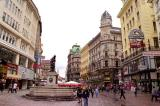Graben, the main commercial street in Old Town Vienna