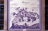 Old Portuguese Macau in tile at Portas do Cerco
