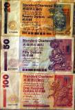Standard Chartered Bank Hong Kong $20, $50, and $100