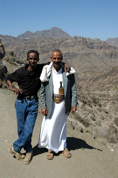 Suleiman and Mohammed on the road to Manakha