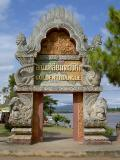 The most beautiful gate of Golden Triangle at Sop Ruak