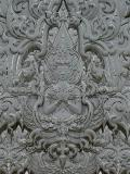 Precisely carved Buddha figure at Wat Rong Kun