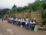 Hill tribes selling food at base of Phu Chi Fa
