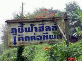 Thai sign located around Phu Chi Fa