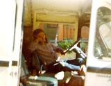 Steve in his magic Metro van