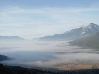 Sometimes the fog over the plateau...