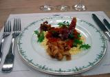 Basque omelet with tentacles, prosciutto
