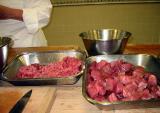Larger pieces of tuna to sauté