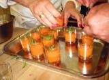 Gazpacho with tarragon garnish