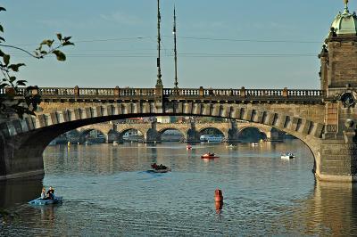 Boating on the Vltava
