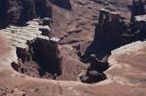 Vehicles along the road in Canyonlands