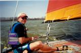First sail of Hobie 16 with reefed sail