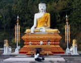 Large Seated Buddha image