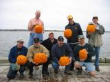 The carvers and their pumpkins