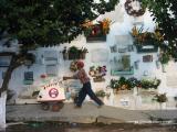 ice cream vendor, cemetery, antigua, guatemala