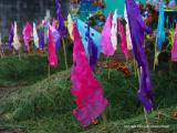 cemetery flags, san lucas toliman, guatemala