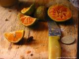 knife and fruit, san lucas toliman, guatemala