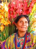 flower seller at the market, antigua, guatemala