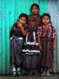 three girls, santa maria de jesus, guatemala