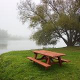 Picnic Table in Fog