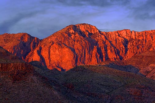 Mountain in Sunset Glow 7638