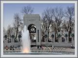 World War II Monument at Twiglight