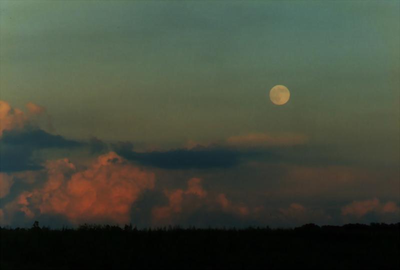 Moon & Turbulent Skies