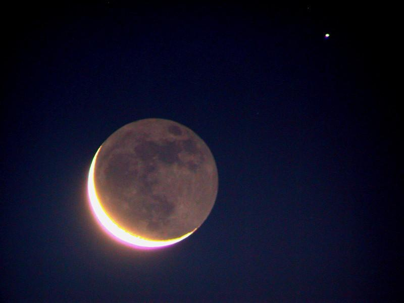 Earthshine with Star