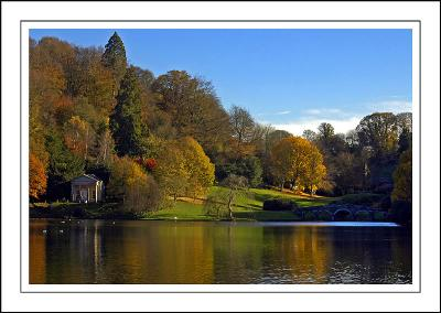 Stourhead ~ looking back to the bridge