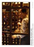 Japanese girl in shop window