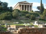 The ancient Agora - the Temple of Hephaestus (the Theseion)
