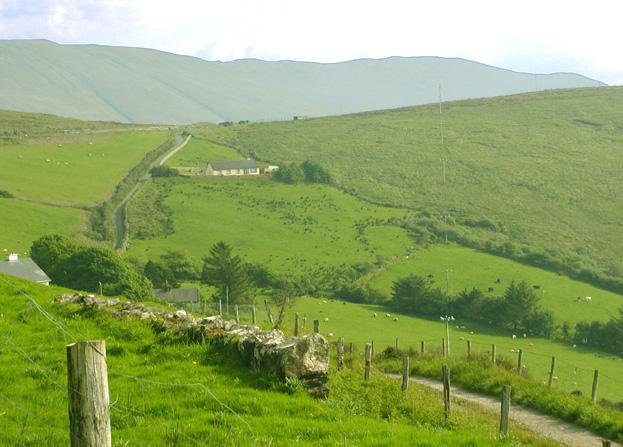 Irish farmhouse on the Dingle peninsula