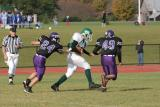 Evan Ekstrom with the ball