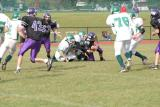 Shane O'Neil & Evan Ekstrom making a tackle